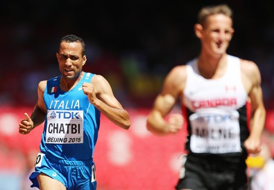 Italy's Chatbi competing at the Beijing 2015 IAAF World Championships (ANSA)