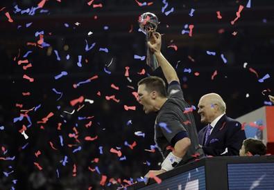 Patriots Falcons Super Bowl Football (ANSA)