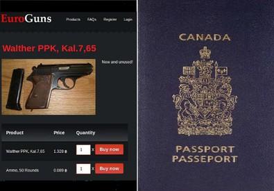 Armi e passaporti falsi sul Dark Web (ANSA)