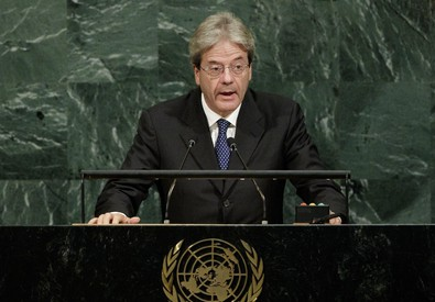 Gentiloni all'Onu (ANSA)