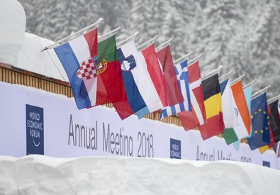 World Economic Forum, WEF, preparation in Davos (ANSA)