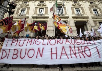 La manifestazione degli insegnanti a Roma (ANSA)
