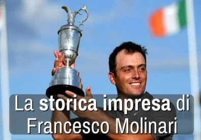 La storica impresa di Francesco Molinari (ANSA)