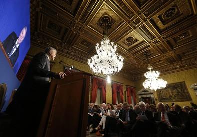7be4df6891 Ignazio Visco, governatore della Banca d'Italia, durante la presentazione  della relazione annuale della Banca d'Italia a Palazzo Koch