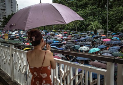Protesters take part in a march themed 'Recover Hung Hom' (ANSA)