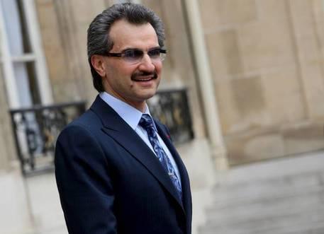 Il principe miliardario saudita Alwaleed bin Talal © ANSA