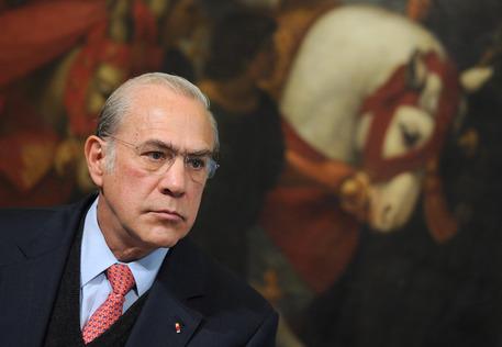 Angel Gurria, segretario generale dell'Ocse, in una foto a Palazzo Chigi, archivio © ANSA