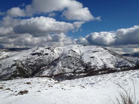 Primi fiocchi di neve in Sardegna