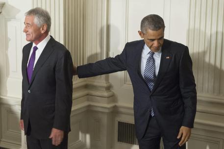 Chuck Hagel con Obama © EPA