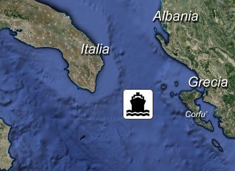 Allarme per uomini armati su una nave al largo dell'isola di Corfù © ANSA