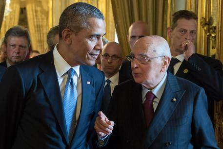 Barack Obama with Giorgio Napolitano (foto: ANSA)