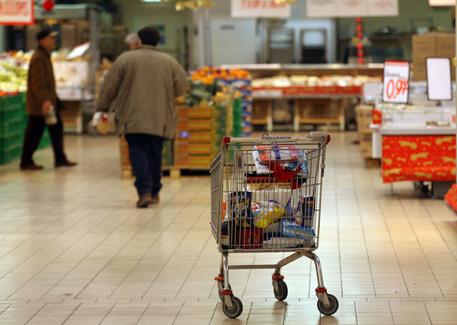 Un carrello per la spesa (foto: ANSA)