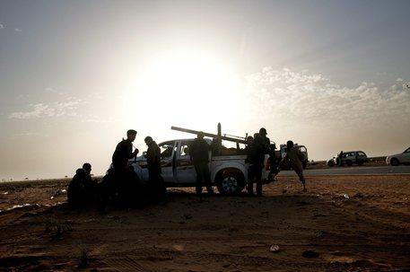 Foto d'archivio di soldati in Libia © ANSA
