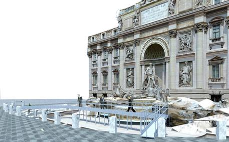 e4eb7b47142e Restoration begins on Trevi Fountain - Lifestyle - ANSA.it