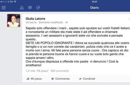 """Marò, ictus per Latorre. Pinotti vola in India. La figlia: """"Italia, fai schifo"""""""