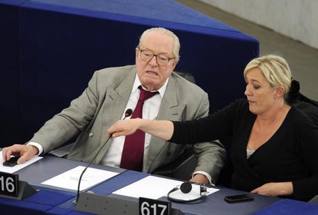 Jean-Marie Le Pen e la figlia Marine © ANSA