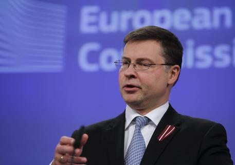 European commission Vice-President in charge of the Euro Valdis Dombrovskis © EPA