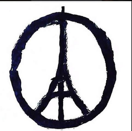 Peace for Paris di di Jean Jullien © Ansa