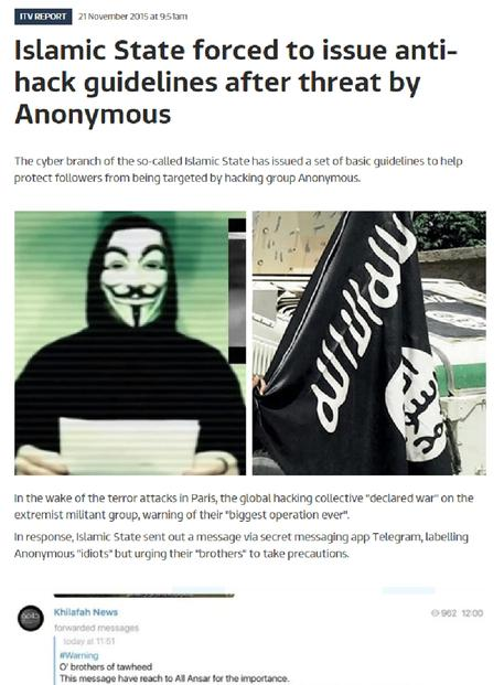 Anonymous chiede di 'trollare' l'Isis © ANSA