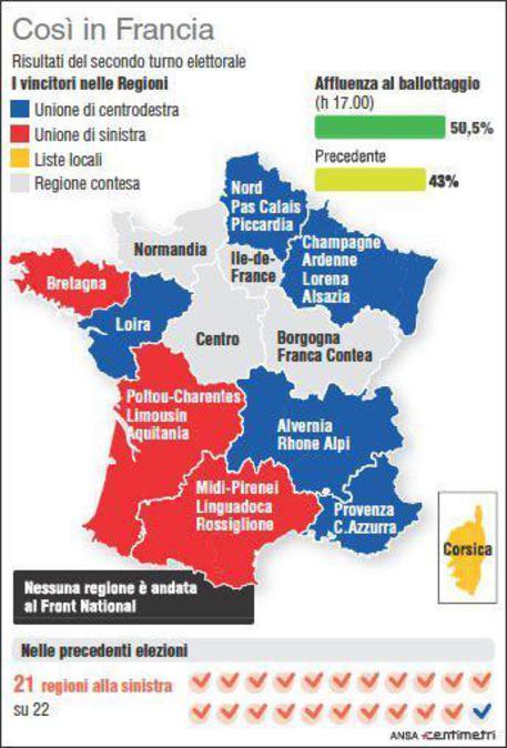 La Mappa Della Nuova Francia Regione Per Regione Mondo Ansait