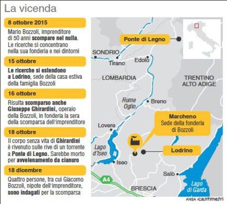 Omicidio Marcheno, 4 indagati: sono nipoti di Bozzoli e dipendenti della fonderia