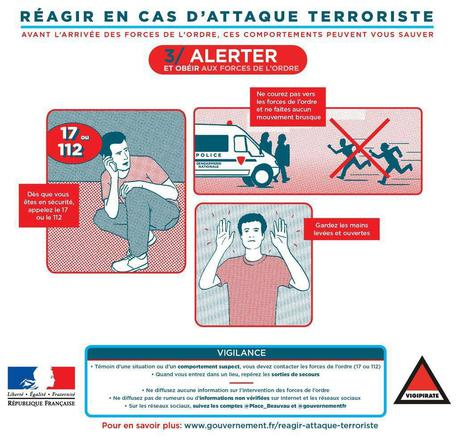 How to react in a terror attack © EPA