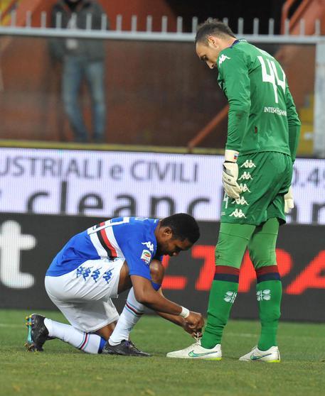 Sampdoria: Eto'o allaccia scarpa Brkic 70bd86153954cebe493078b57af49e98