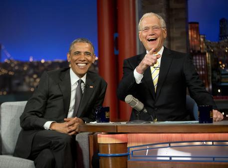 Il ritorno di David Letterman: il primo ospite Barack Obama Foto