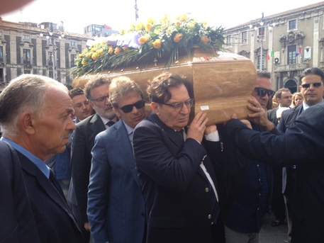 Catania, ultimo saluto a Lino Leanza$