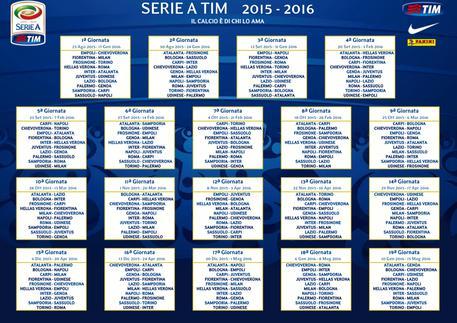 Campionato Serie A Calendario.Il Calendario Della Serie A 2015 2016 Foto Video Sport
