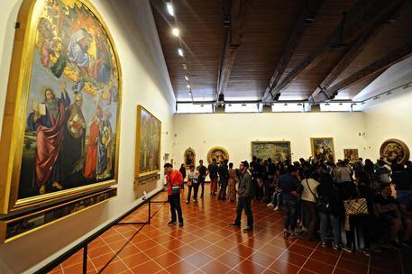 Visitatori alla Galleria degli Uffizi © ANSA