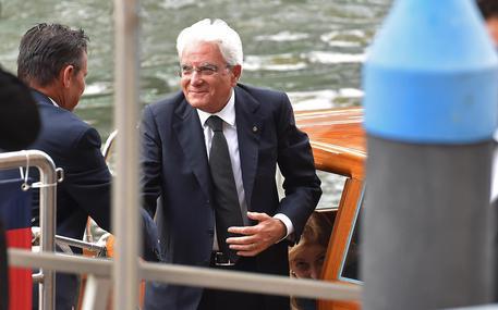 Il presidente Sergio Mattarella a Venezia © ANSA