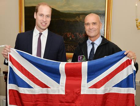 L'esploratore britannico Henry Worsley  con il principe William © AP