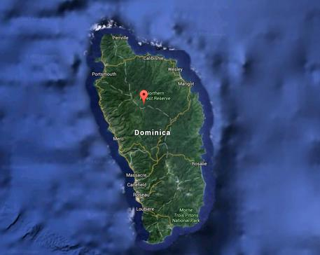 L'isola di Dominica, ai Caraibi, dove è morto un bimbo italiano di 16 mesi in un incidente stradale © ANSA