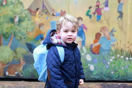 Prince George first day at nursery © EPA