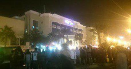 Un'immagine del resort dopo l'assalot dal sito