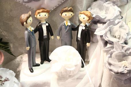 a916aca2a8f9 Vladimir Luxuria sfila in abito da sposa. Nell ambito manifestazione che  comprende anche il Gay Bride Expo