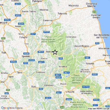 Nuovo terremoto ad Accumoli e Norcia Registrata una scossa di magnitudo 4.1