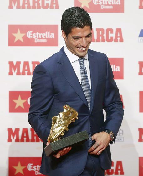 Liga: Luis Suarez vince la Scarpa d'oro 2016