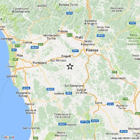 Firenze terremoto: oggi pomeriggio una scossa magnitudo 3.9