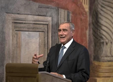 In visita il presidente del Senato Grasso, accompagnato da Catiuscia Marini