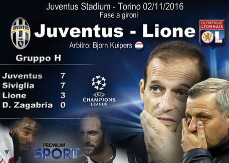 Champions League, Juventus-Lione: news e formazioni