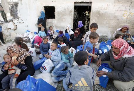 Bambini in un villaggio di Kaukab, in Siria © ANSA