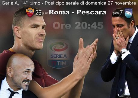Roma Pescara streaming quando e come