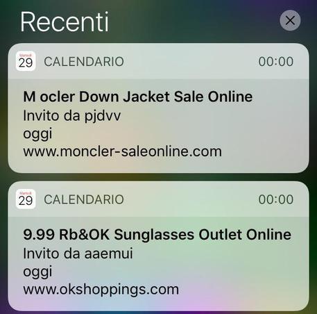 Appuntamenti spam sul calendario di iPhone, Apple al lavoro per risolvere