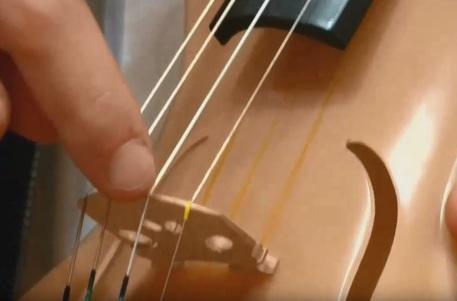 Designer italiano crea un violino fatto di seta di ragno
