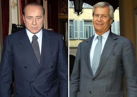 Berlusconi e Bolloré © ANSA