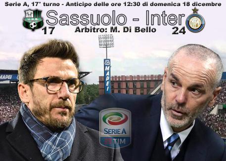 Pronostici serie A: prima X di Sassuolo-Inter a 3,50