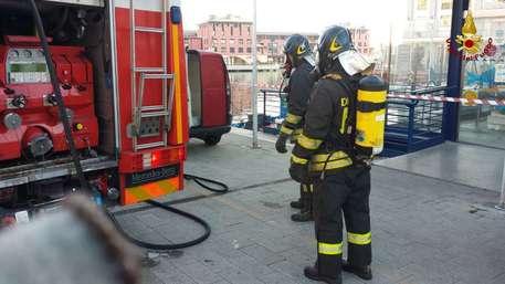 Bus in fiamme a Genova, nessun ferito