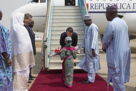 Renzi arrives in Abuja, Nigeria (foto: ANSA)
